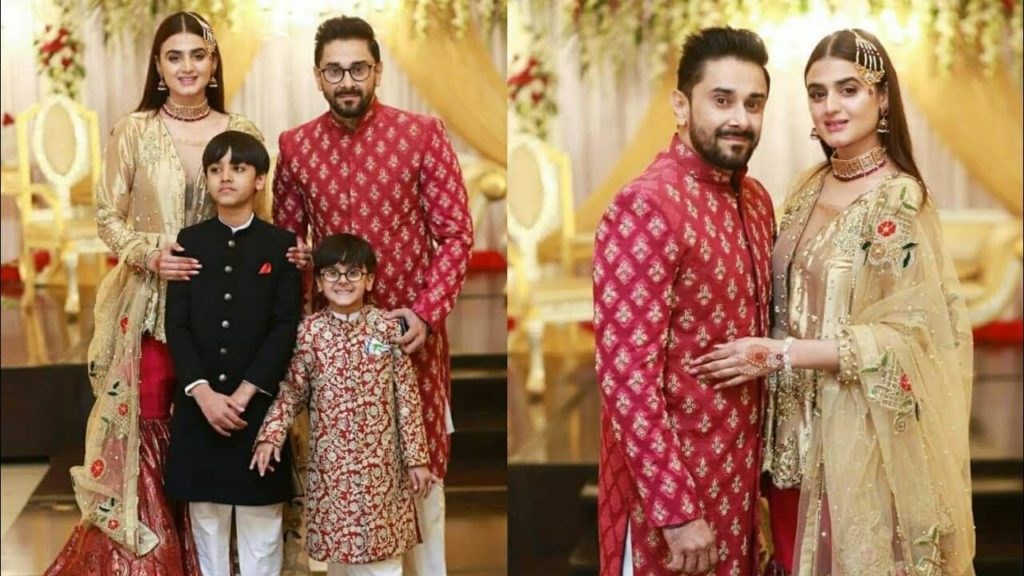 Hira Mani with husband and kids