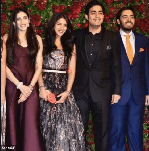 Anant ambani and radhika merchant with akash and shlokha