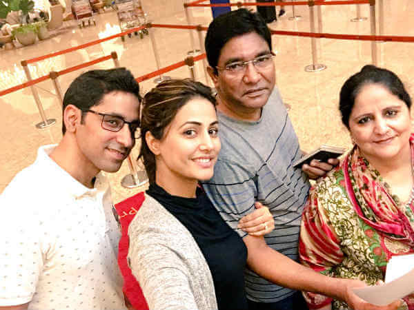 hina khan family photo
