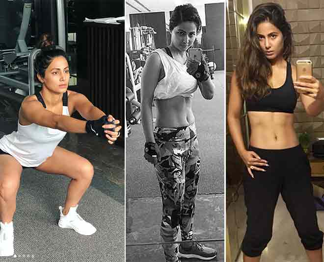 hina khan gym workout