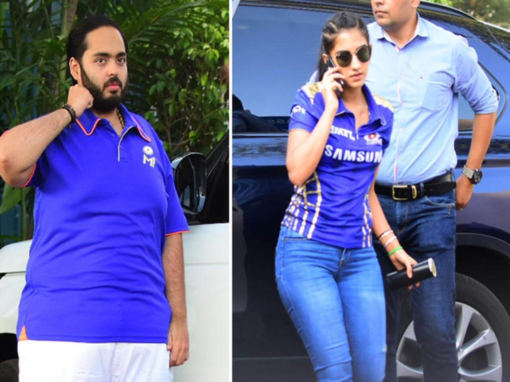 radhika merchant and anant ambani in IPL