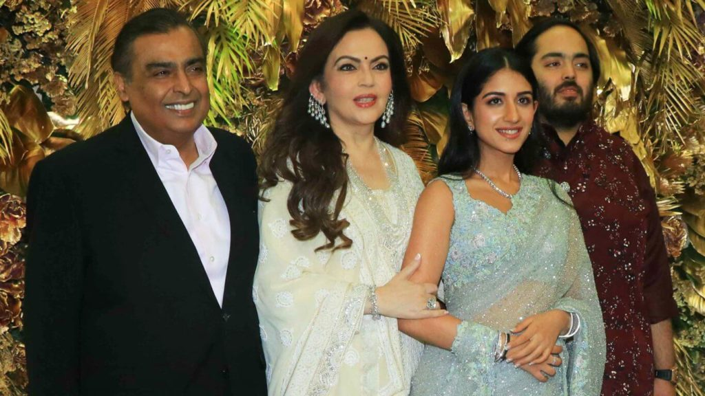 radhika merchant with ambani family