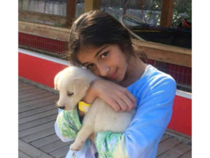 rysa pandey with dog